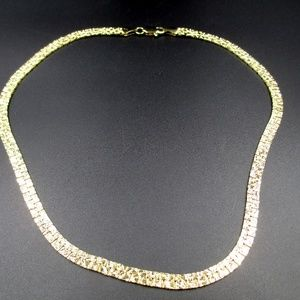 """Jewelry - Vintage 18"""" Golden Nuggets Style Chain Necklace"""
